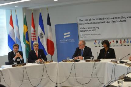 Secretary Kerry participates in an LGBT Ministerial Event in New York City on September 26, 2013