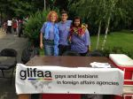 GLIFAA's table at Bucharest Pride