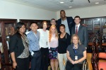 Jason Collins poses with GLIFAA members