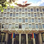 U.S. Embassy in London decked out with Pride banners