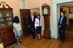 GLIFAA President Robyn McCutcheon escorts Secretary Kerry