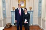 Secretary Kerry and guest speaker Masha Gessen